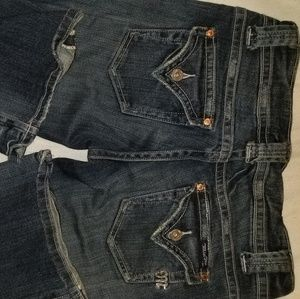 Miss Me Flap pocket jeans with rhinestones size 26